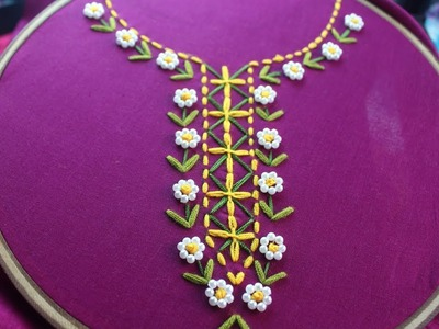 Neck design for  beautiful dresses | Hand embroidery for dresses