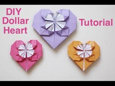 Origami Dollar Heart