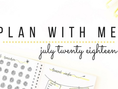 Plan with me for July 2018 - Whitelines bullet journal setup | studytee