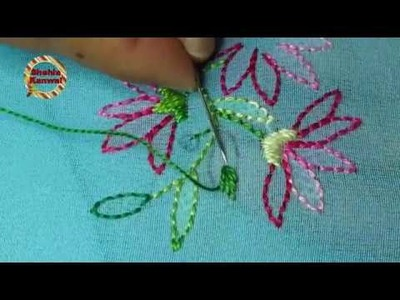 Shadow work(booti)stitch:hand embroidery