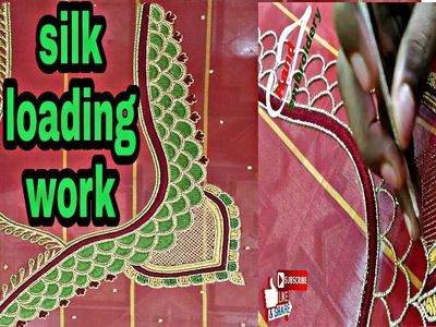 Silk loading work | Aari embroidery | French knot | hand embroidery