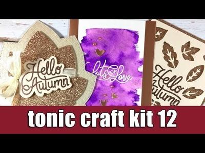 Tonic craft kit 12 | unboxing & inspiration