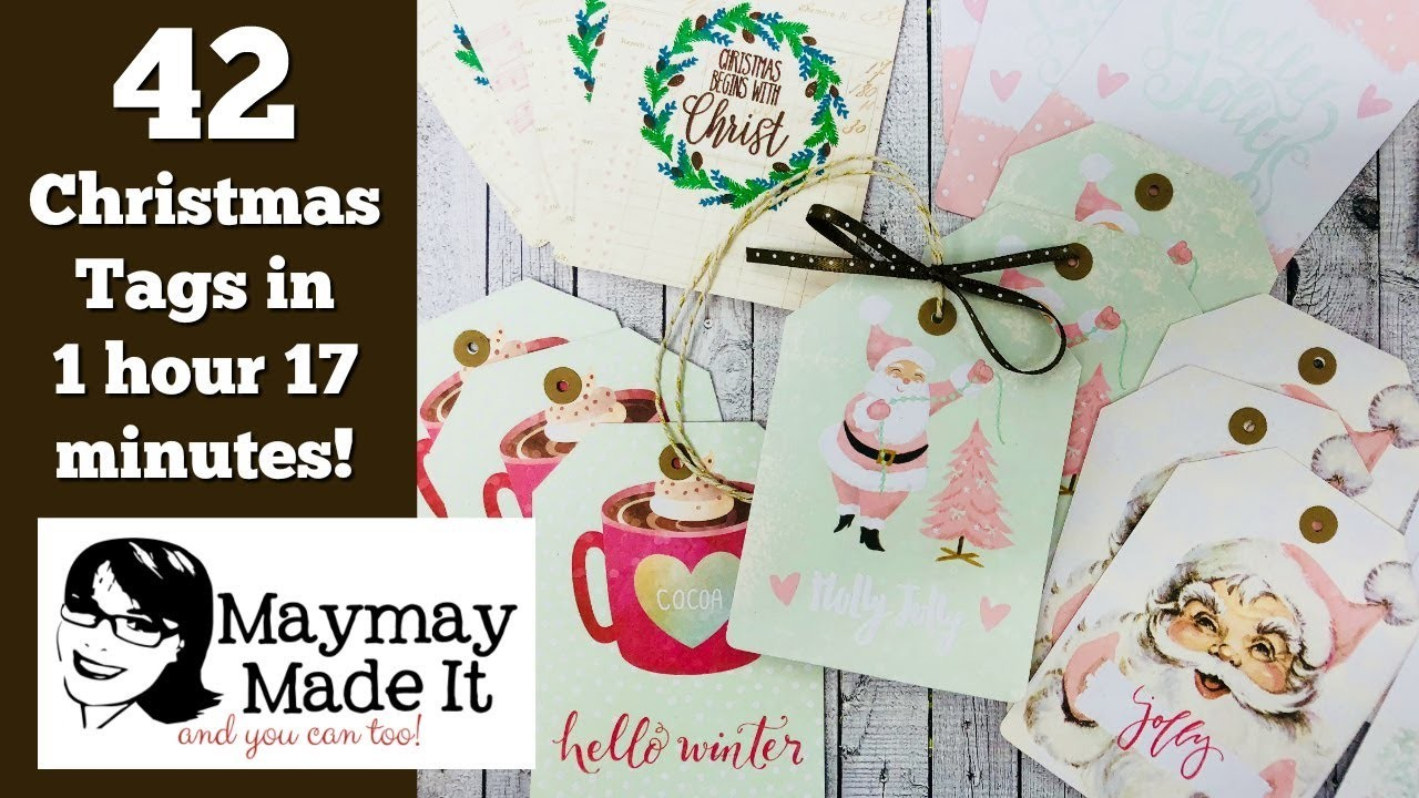 42 Christmas Tags in 1 hour and 17 minutes!  Using Santa Baby Journalling Cards