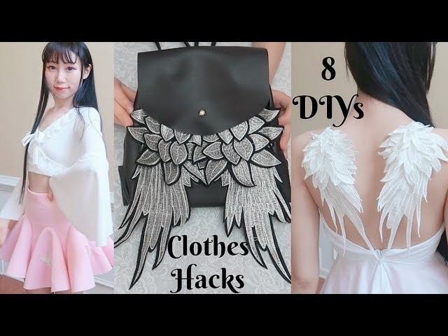 8 DIY Clothes Life Hacks! Back To School.College DIY Clothes Hacks! Update Your Old Closet!