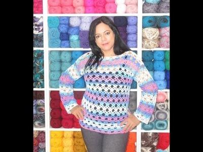 Crochet blouse or summer sweater
