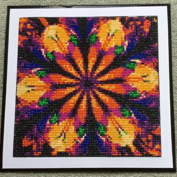 Fundraising Project - Diamond Art Picture ,  symmetrical Abstract 5D full drill diamond embroidery painting Picture Art