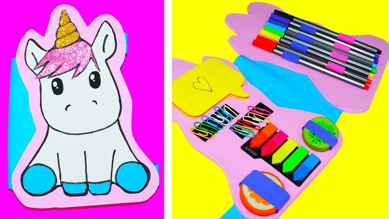 ???? DIY | Amazing Unicorn | How to make a pencil case Unicorn