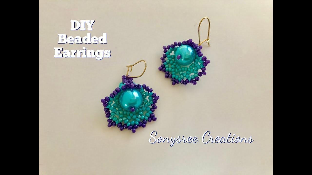 Diy Beaded Bell Earrings How To Make Beaded Earrings