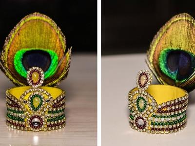 DIY : Mukut. Crown For Bal Gopal | Kundan mukut | Janmasthami | Art with Creativity