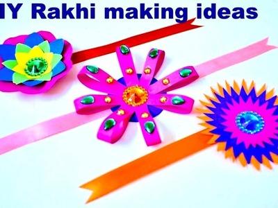 Easy DIY | 3 Rakhi making Ideas at home | Homemade Rakhi for celebrating Raksha Bandhan