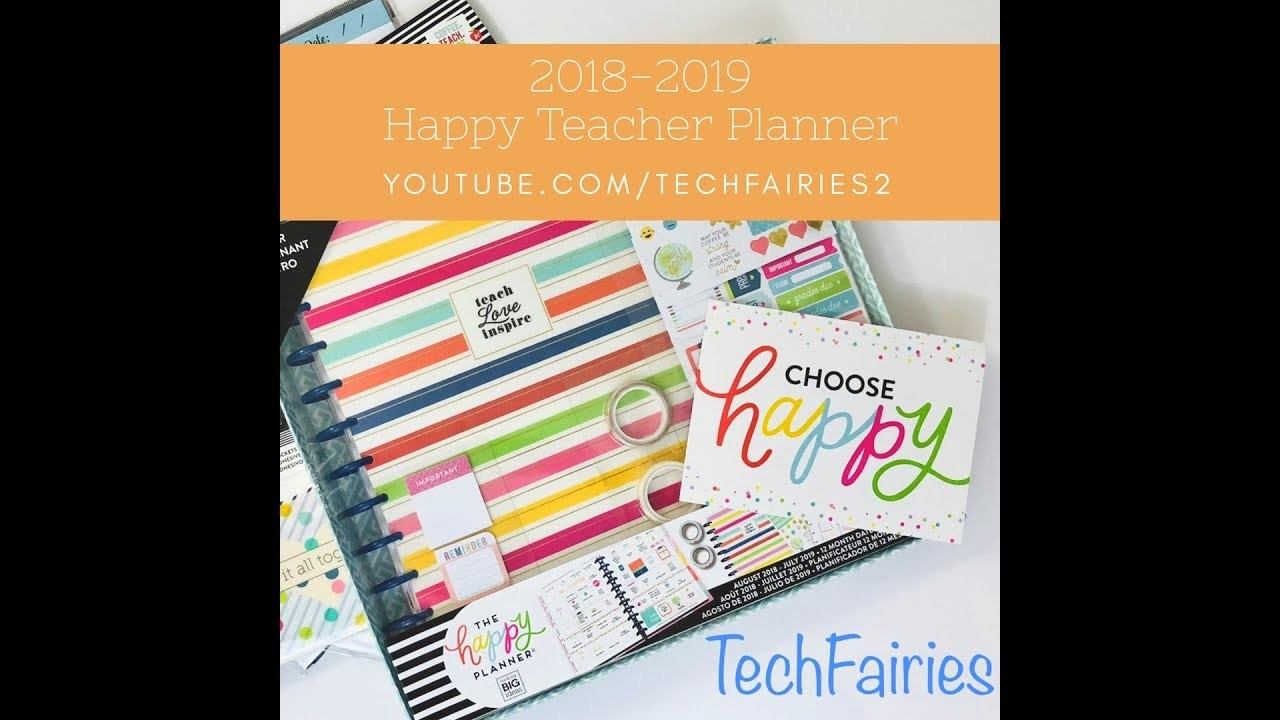 Happy Planner Teacher Planner 2018-2019