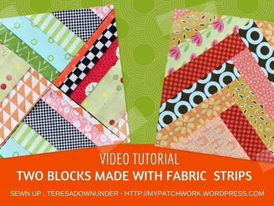 How to make 2 easy blocks with fabric strips