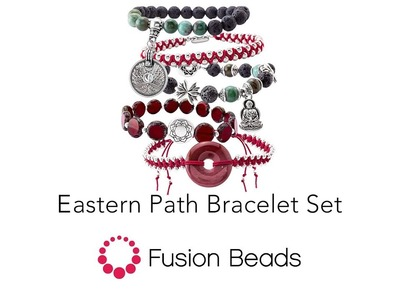 Learn how to create the Eastern Path Bracelet Set by Fusion Beads