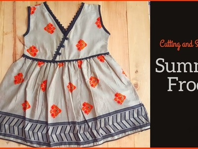 Summer Frock Cutting and Stitching | DIY Wrap Frock