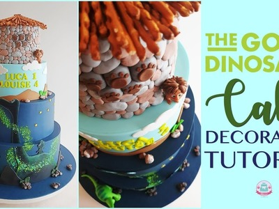 THE GOOD DINOSAUR CAKE DECORATING TUTORIAL | Abbyliciousz The Cake Boutique