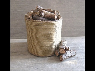 1.12th Scale Log Basket Tutorial