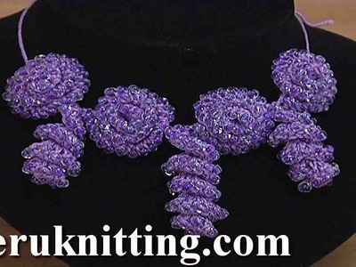 Crochet  Beaded Flower Cord  Tutorial 152 Crochet Bracelet
