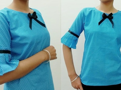 DIY.10 Minutes DIY.Pleated Top cutting and stitching.Designer top.party wear top.Viewer's Choice