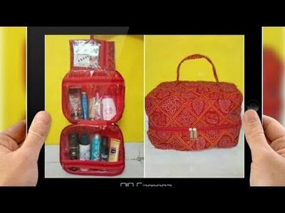 DIY: Designer Cosmetics Bag Tutorial By Anamika Mishra. . . .