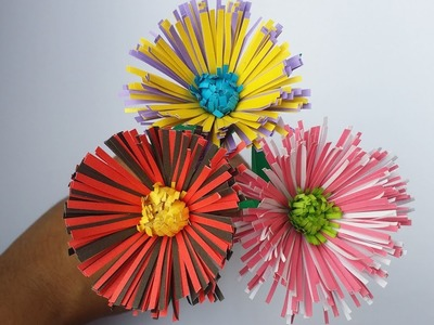 DIY: Paper Flower!!! How to Make Easy & Simple Flower With Colour Paper!!! Flower Tutorial!!!