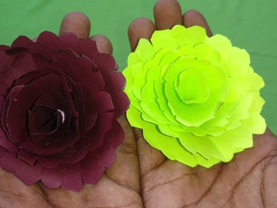Easy Paper Flowers | Petals Flower Making with Papers DIY