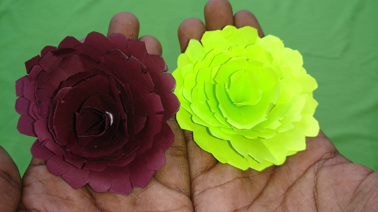 Easy Paper Flowers Petals Flower Making With Papers Diy