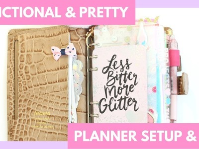 Functional and Pretty Planner Setup & Flip Through - June 2018