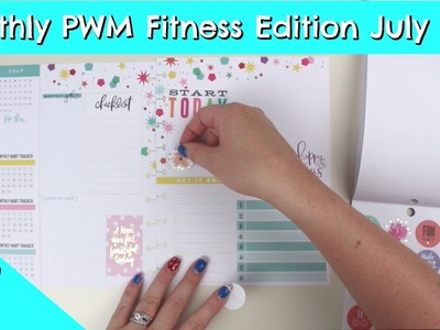 Happy Planner Monthly Plan With Me - Fitness Edition - July 2018
