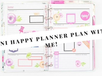 Plan With Me Mini HAPPY PLANNER | June 11th - 17th  | At Home With Quita