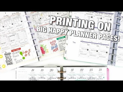 Printing On The Pages BIG HAPPY PLANNER | At Home With Quita