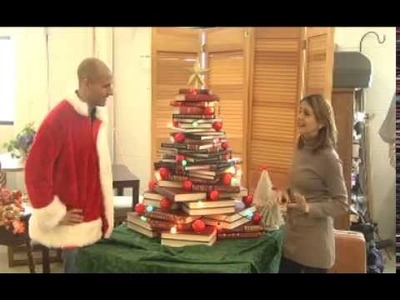 Revibe: Christmas Tree made from books