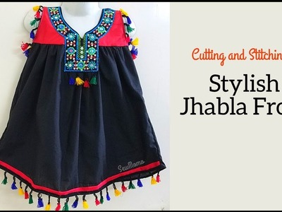 Stylish Jhabla Frock  Cutting and Stitching   DIY JHABLA DRESS