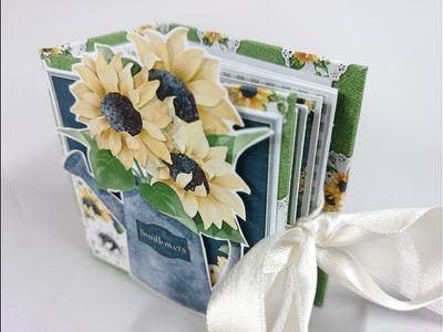 Tutorial | Tiny Sunflower Mini Album | Start to Finish