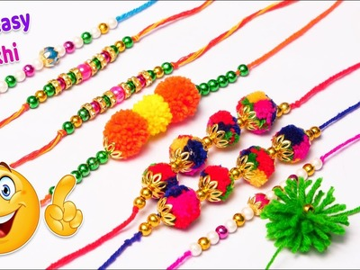 5 awesome handmade Rakhi you can easily make at home | Raksha bandhan 2018 | Rakhi for competition