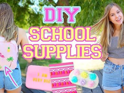 DIY BACK TO SCHOOL SUPPLIES 2018! Backpack, Notebook, Laptop Sleeve & More