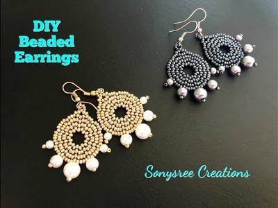 DIY Beaded Earrings. How to make beaded earrings
