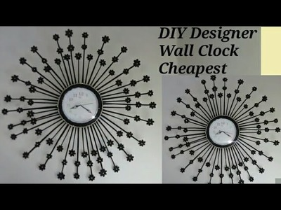 DIY Designer Wall Clock in the Cheapest Budget.Elegant Wall Clock with Waste Material.Waste material