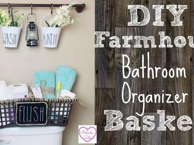 DIY Dollar Tree Farmhouse Organizer Basket   Great For Limited Storage Space
