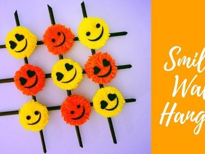 DIY Smiley Wall Hanging - Paper and Yarn DIY Ideas ( Super Easy ) | Karthika Loves DIY