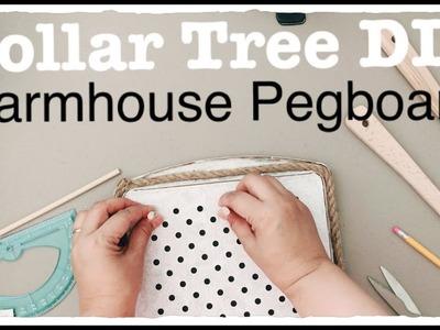 DOLLAR TREE DIY FARMHOUSE PEGBOARD  Easy Less than $5