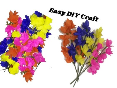 Flower bunches making with coloured papers | very easy making