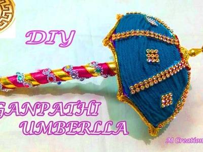 Ganpathi Umbrella making.how to make ganesh umbrella
