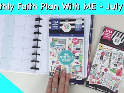 Happy Planner Monthly Plan With Me - Faith Edition - July 2018