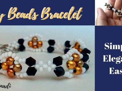 How to make beaded bracelet. Super easy beading tutorial. Beading jewelry collection