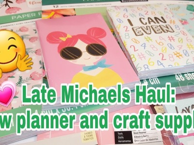 Late Michaels Haul | New planner and craft supplies | Planning With Eli