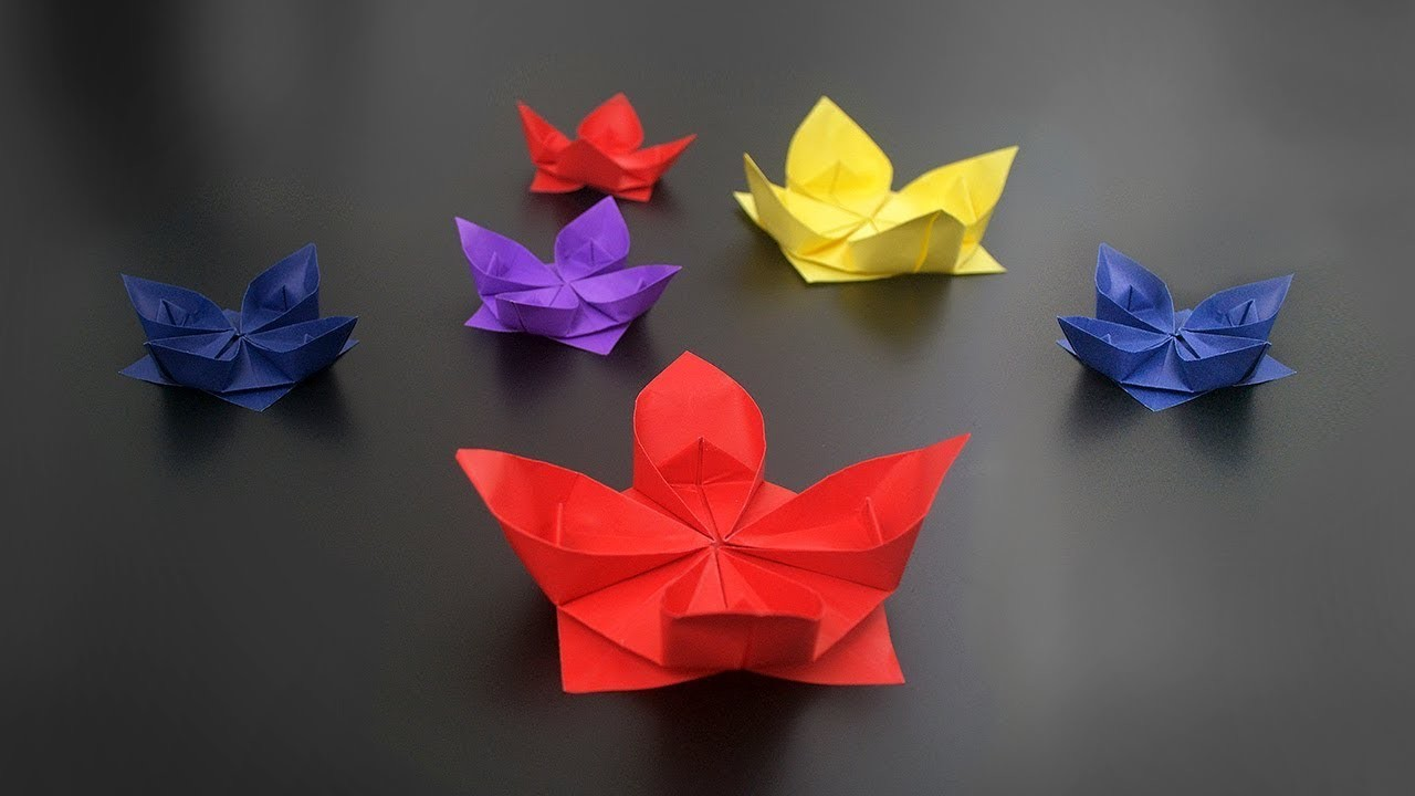 Origami Simple Lotus Flower Instructions In English Br