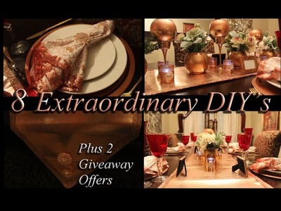 8 Extraordinary DIY's   |   2 GIVEAWAY CONTEST