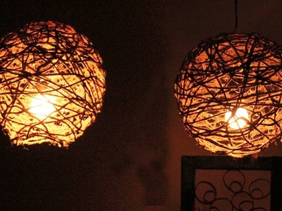 Amazing DIY Idea Balloon And Rope Lamp #DIYCRAFTS  how to make