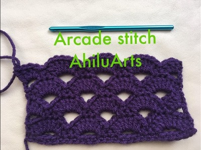 Arcade Stitch - Crochet Tutorial - Tamil - DIY Tutorial