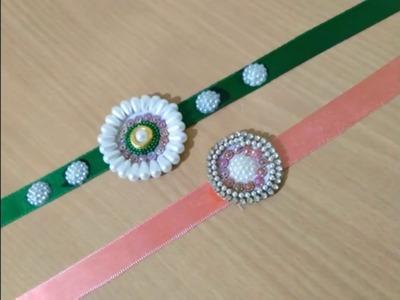 DIY. Easy and beautiful Rakhi making idea.How to make rakhi with silk thread. DlY = Simple Rakhi